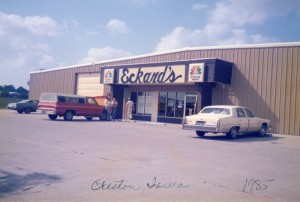 The second branch of Eckard's Flooring openen in Creston, Iowa. this photo was taken in 1985.