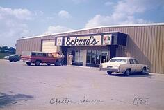 The second branch of Eckard's Flooring openen in Creston, Iowa. this photo was taken in 1985.