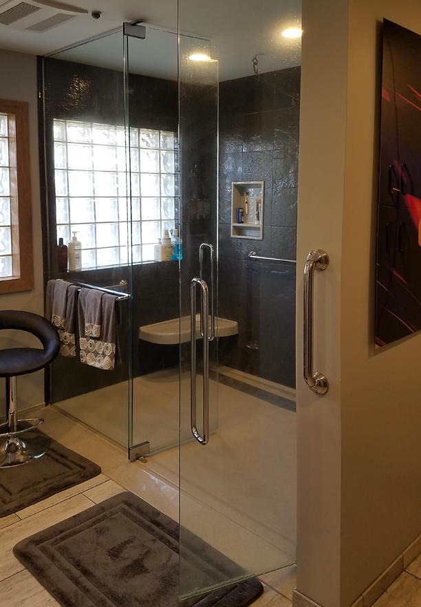 Custom Low Profile Shower Base / Level Access