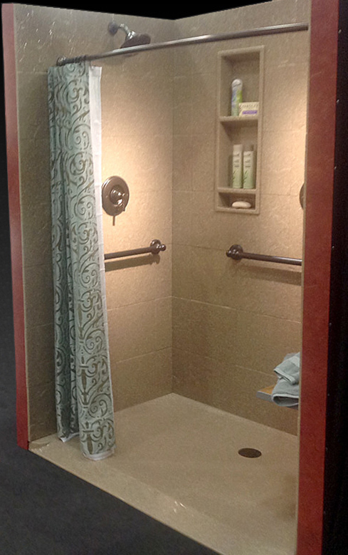Ramped Shower Base